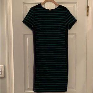 Michael Kors Green and Navy striped dress